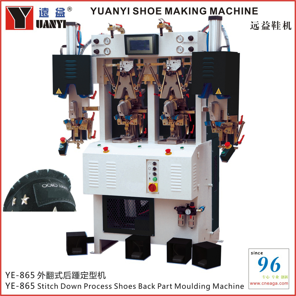 YE-865 Stitch Down Process Shoes Back Part Moulding Machine